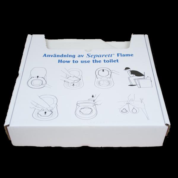 Separett Bags for Incinerating Toilet Open