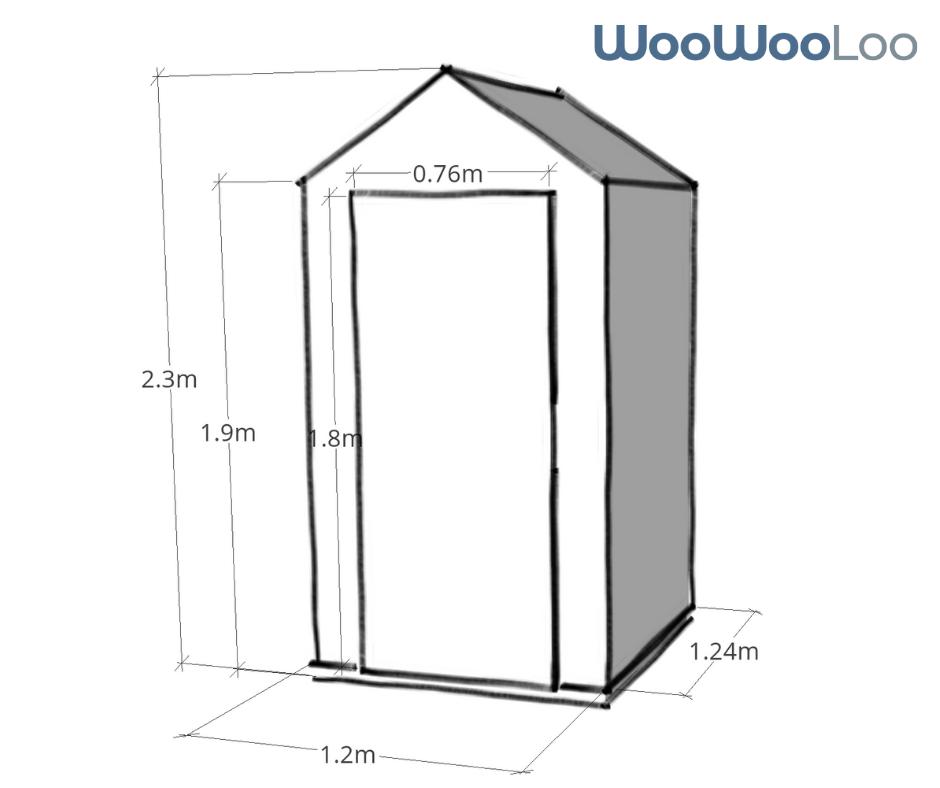 WooWoo Loo Dimensions